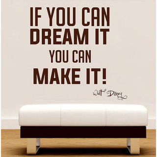 Decor Kafe Dream Make It Wall Sticker (26x25 Inch)