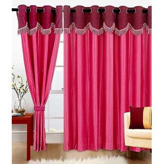 Z Decor Polyester Set of 2 Door Curtain(ECTD-00027)