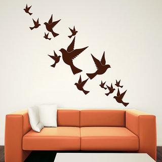 Decor Kafe Lovely Birds Wall Sticker (24x23 Inch)