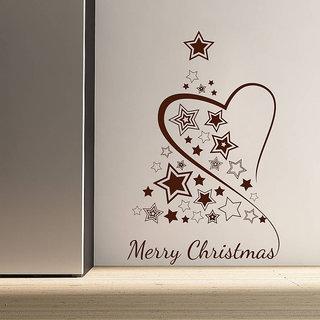Decor Kafe Decor Kafe Heart Christmas Wall Sticker 11x17 Inch)