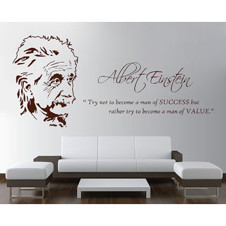 Decor Kafe The Legend Albert Einstein Wall Sticker 52x26 Inch)