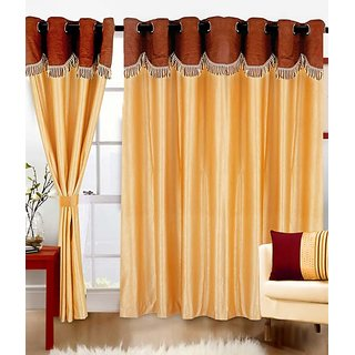 Z Decor Polyester Set of 2 Door Curtain(ECTD-00030)