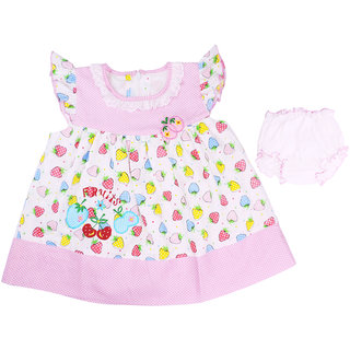Ole Baby  Girl's Gathered Dresss (OB-PFRC-446M1)