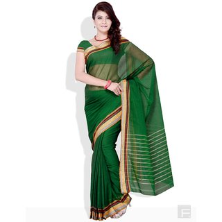 Floral Jacquard Border Cotton Saree