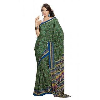 Womantra Women's Crepe Multicolor  Saree