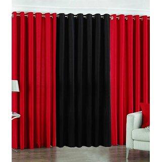 Z Decor Polyester Set of 3 Door Curtain(EGD-05)