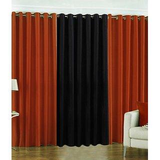 Z Decor Polyester Set of 3 Door Curtain(EGD-08)