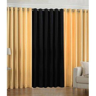 Z Decor Polyester Set of 3 Door Curtain(EGD-010)