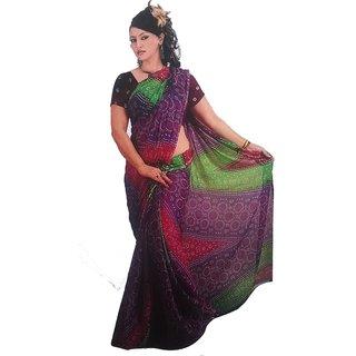 Kamashya Multi colour Chunariya  chiffon sarees