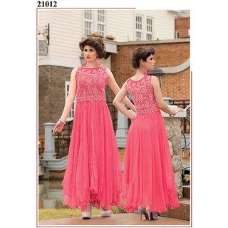 e9fd33893a8 shreeji fashion Latest Stylish Pink Long Net Gown