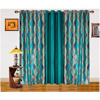 2 color optios-Dekor World Illusion Waves Door Curtain set of 3 pcs