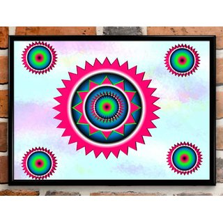 MODERN FRAMED PAINTING DECORATIVE PRINTED WALL ART 3D