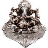 Ganesha Sitting On Leaf