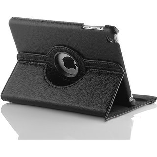 KolorFish iPad Mini Black 360 Rotating Magnetic Business Leather Case Cover