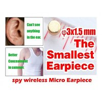 INVISIBLE SMALLEST WIRELESS MICRO EARPIECE SLEEVE MICROPHONE, SHIRT STYLE