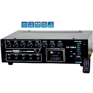 MEDHA 120 WATT PROFESSIONAL HIGH POWER P.A. AMPLIFIER WITH 1 YEARS WARRANTY