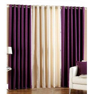 Z Decor Polyester Set of 3 Door Curtain(EGD-021)