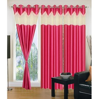 Z Decor Polyester Set of 3 Door Curtain(EGD-025)