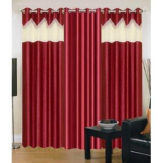 Z Decor Polyester Set of 3 Door Curtain(EGD-026)