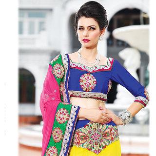IshiMaya Multicolor Embroidered Women's Stylish Saree
