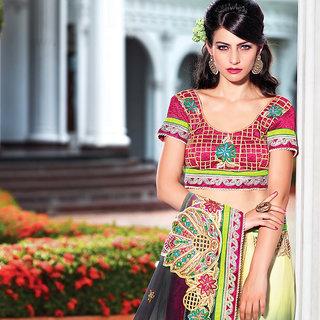 IshiMaya Cream And Black Embroidered Saree