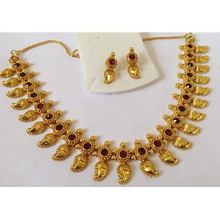 6e10a137d87ce Non Plated Multicolor Gold Foil Necklace Set For Women