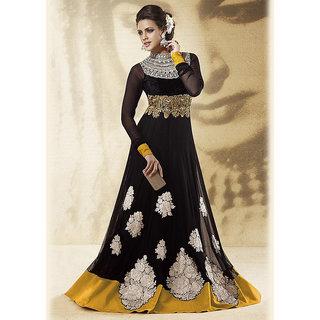 IshiMaya Black Velvet Frock Suit
