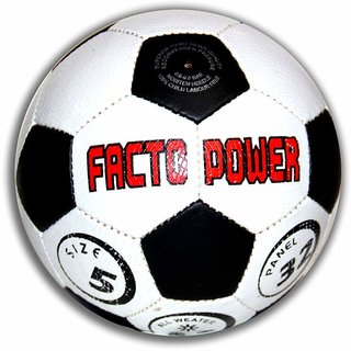 FACTO POWER Black and White P.V.C Football (Size  5)
