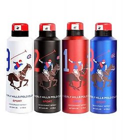 Beverly Hills Polo Club Deodorants - 175 Ml - Set Of 3 (Assorted)