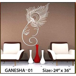 wall stencil Ganesh 1