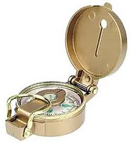 BRASS Finish MAGNETIC COMPASS WORKS ANGLE FITTER TRAVEL