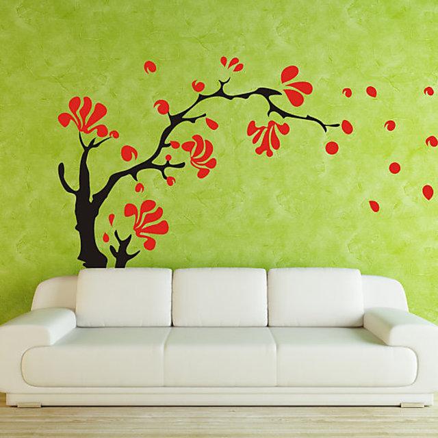 Wall Stencils Drawing Room Tree