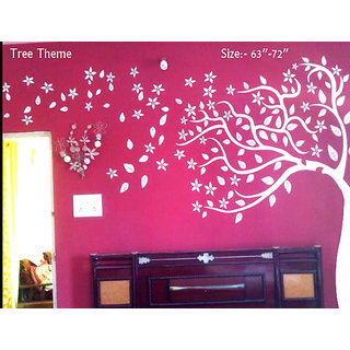 Antique Tree Theme Wall Stencils