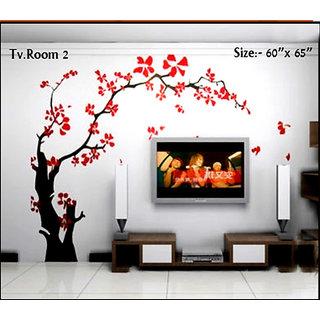 wall stencils T.V room 2