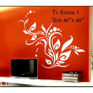 wall stencil tv room 01