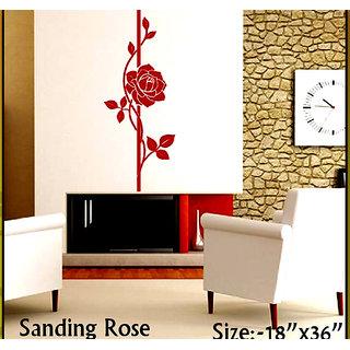 wall stencils standing rose