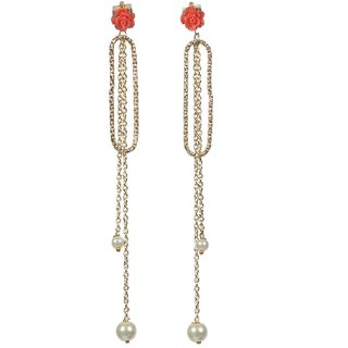 Envy Gold Plated Pink Dangle Earring