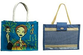 Jute Bags(Shopping Bag With Lunch Bag)