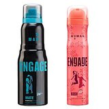 Engage  Deo (Mate, Blush) Pack Of 2- 165ml Each(men  Women)
