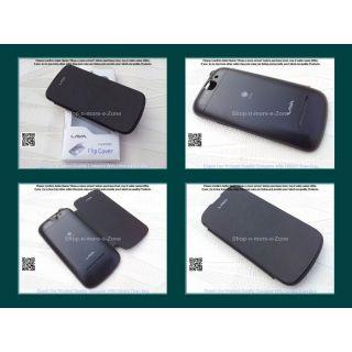 Lava Iris 458Q Flip Diary Case Cover - BLACK