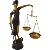 Juctice Lady Made Of Brass Metal In Fine Antique Finish