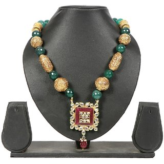 Envy Jewellery Gold Plating Green Necklace
