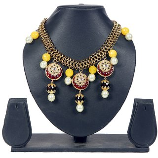 Envy Jewellery Gold Plating Yellow & Red Necklace