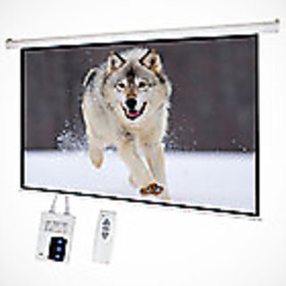 10X8 sq.ft. SWASTIK BRAND Motorised Projector Screen - A + + Grade (IMPORT USA) UV TECHNICS FABRICS 5 LAYERS COTED FOR EXCELLENT RESULT