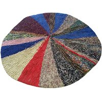 Star Colorful Round Door Mat