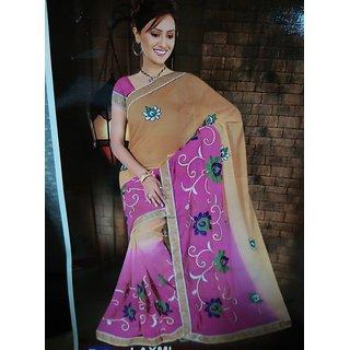 Shasom Embroidered Saree