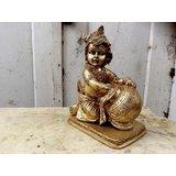 Baby Krishna - The Butter Thief - Brass Sculpture