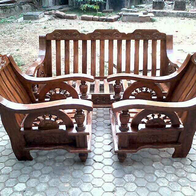 Assam Teak Wood Sofa Set With Cushion