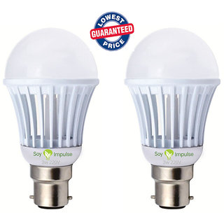 LED Bulb 5 Watt  7 Watt  White (Set of 2 pcs)