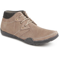 Foot N Style Men's Beige Lace-Up Boots